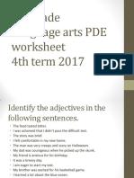 6th L. Arts PDE Worksheet 4th Term 2017
