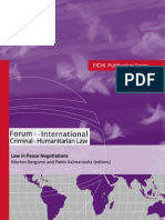 FICHL 5 Law in Peace Negotiations
