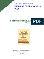 Jorge Enrique Díaz F. - Como Enseñar La Biblia
