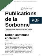 JAQUET Notion Commune Et Éternité