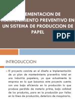 Implementacion de Mantenimiento Preventivo en Un Sistema De