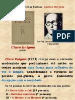 AULA 09 - Claro Enigma, Carlos Drummond de Andrade (FUVEST)