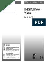 Manual del Multímetro Digital VC-404