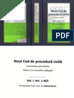 Noul Cod de Procedura Civila Vol I Art 1 455 2016
