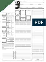 TgCharacterSheet v1.5 Spellcaster Print