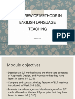 ELT1- Week 5-6- Approaches and Methods
