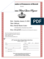 2018 Narcissus Queen Pageant Flyer