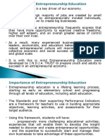 Importance of Entrepreneurship Education
