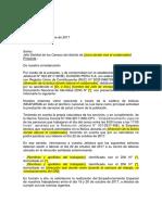 Carta Dirigida Al Jefe Distrital de Censos 2017 - Eckerd Peru (365020xC5BDF)
