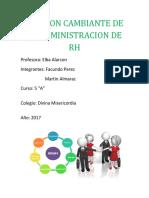 Funcion Cambiante de La Administracion de Rh Almaraz Perez
