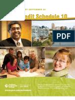 Fall Schedule 2010