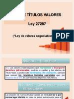 Ley de Títulos Valores 2014