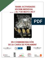 Benidorm Medieval 2017 Programa