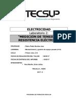 Medición de Tensión y Resistencia eléctrica