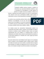 Informe - Variables de Investigacion