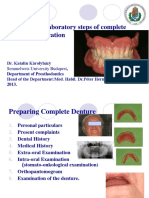 Clinical and Laboratory Steps of Complete Denture