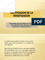 Justificacion de La Investigacion