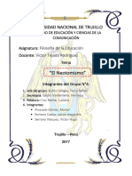 Informe de Filosofía