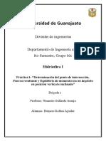 Práctica 3- Determinación del punto de intersección