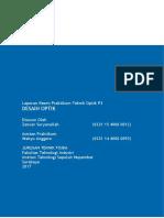 Laporan Resmi Praktikum Teknik Optik P3