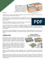 Abduccion y Subduccion (Geografia) 1 Pag
