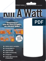 P4400 Kill-a-Watt Meter Packaging and Manual