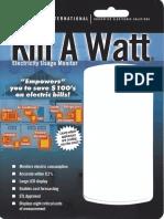 P4400 Kill-a-Watt Meter Packaging and Manual
