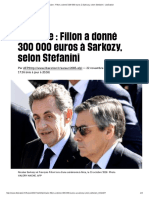 Primaire _ Fillon a Donné 300 000 Euros à Sarkozy, Selon Stefanini - Libération