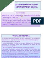 Diapositivas Pre Liquidacion Financiera de Una Obra Por Administracion