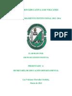 Plan de Mejoramiento Institucional 2012-2014 (1)