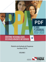 Relatorio de Avaliacao Do Ppa 2016-2019 Exercicio 2016 Volume i