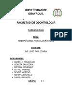 Interacciones-Farmacodinamicas