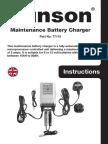 PE138 - Gunson Model 77115 - Maintenance Battery Charger - BC715 Instructions Manual