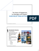 Ten Steps of Engagement for Managers and Leaders Sample Slides