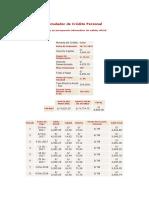 Simulador de Crédito Personal (Bancoazteca) 2 Años