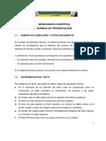 Manual Para Presentar Trabajos de Investigacion Monografias 2017