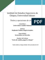 Titulos y Operaciones de Credito.