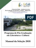 Manual Selecao PPGLitCult 2018