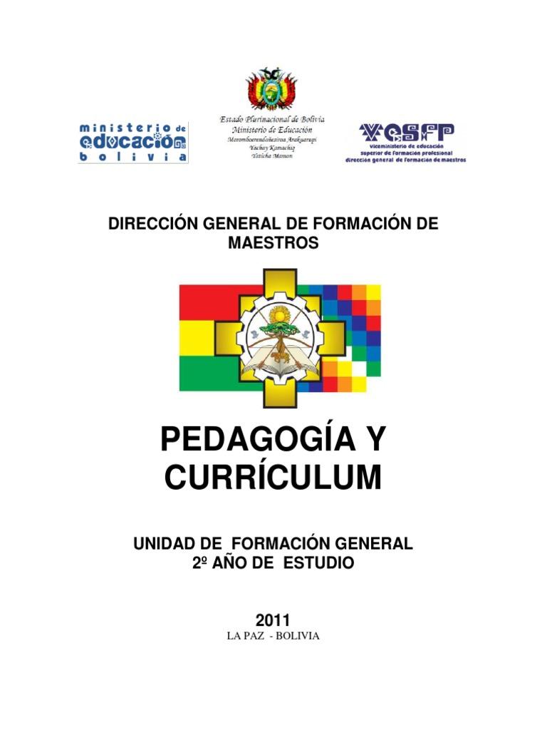 Contenidos de Pedagogia Desolonizadora y Curriculo