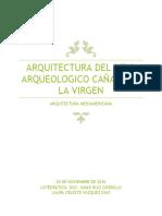 Arquitectura de La Zona Arqueologica de Cañada de La Virgen. Final Arq. Mesoamericana
