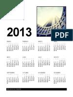 Calendario 2013 mdelo