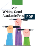 A Guide to Writing Good Academic Prose
