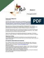 Boletin 2 de  Mariposas Monarca otoño, temporada 2010-2011de
