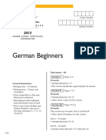 German Beg Hsc Exam 2013