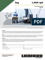 Liebherr Lhm 550 Mobile Harbour Crane Bulk Handling Pactronic Marin Spain Job Report
