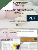 Emerging Contaminats