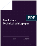 Blockstack Technical Whitepaper