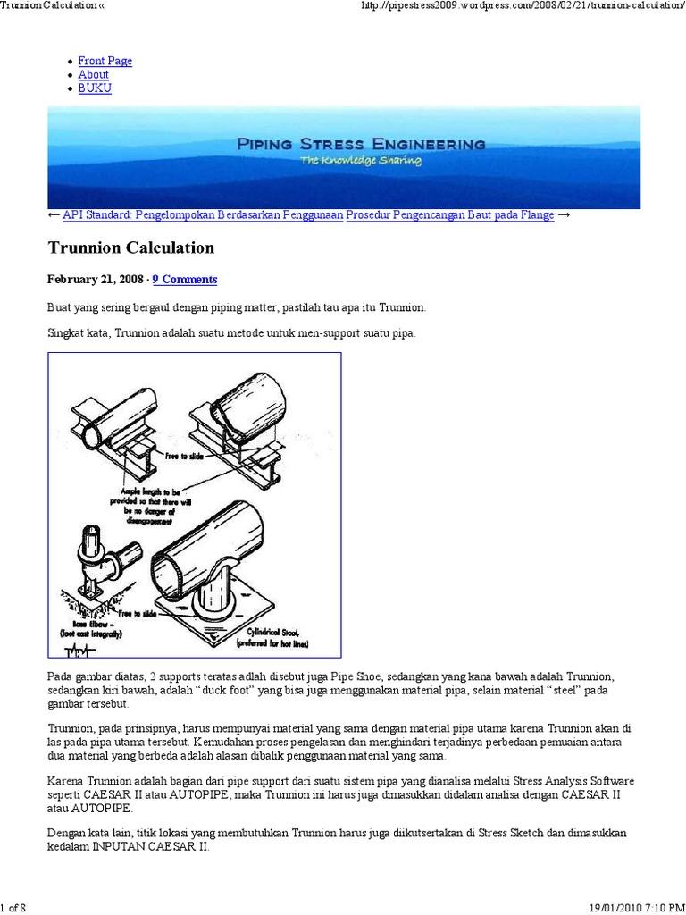 Trunnion Calculation