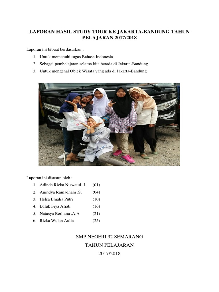Laporan Hasil Study Tour Ke Jakarta 1