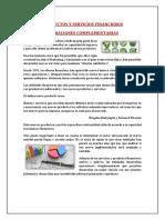 Productos y Servicios Financieros -Complementarias